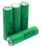 3.7V 18650 descarga da bateria de lítio recarregável Inr18650-25r 20A para E-Cigarette