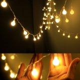 Luz ao ar livre interna de piscamento da corda do bulbo de lâmpada da esfera do diodo emissor de luz do efeito 220V 10m