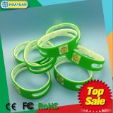 Bracelet fait sur commande de bracelet de silicones d'IDENTIFICATION RF de GYMNASTIQUE de l'impression T5577 de logo