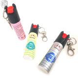 Mini spray au poivre de trousseau de clés de spray au poivre