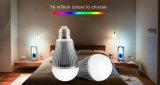 WiFi controlou a luz de bulbo do diodo emissor de luz de 9W RGB+Ww
