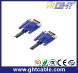 Macho ao VGA masculino do cobre 3+6 com cabeça azul
