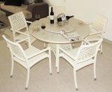 Мебель ротанга стола мрамора стула ротанга установленная