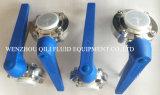 Venta caliente China SMS/DIN/3A/Rjt Munual o válvula de mariposa sanitaria neumática o eléctrica