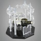 Visualización tablero Btr-D2162 del vino del estante de la botella del cromo de la visualización de la botella