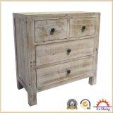 Weinlese-festes Holz-Schrank mit 2 Doorsand 2 Fächer. Seitlicher Tisch Nightstand.