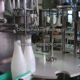 Coco relleno botella de leche y sellado de la máquina