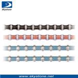 El alambre del diamante para el corte por bloques del granito, alambre inmóvil vio