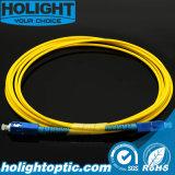 Sc optique de câble de cavalier à Sc 3.0mm uni-mode recto