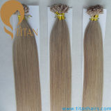 Extensão de cabelo de prego de Keratina de cabelo puro humano Remy