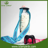 Lanière professionnelle de porte-bouteilles d'université avec le logo de Silkscreen de polyester
