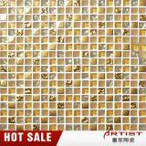 Mosaïque en verre de luxe d'or de type indien en gros pour la décoration de mur