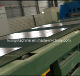 長さラインへの金属板の打抜き機か切口