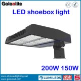 Outdoor 120lm / W Meanwell Driver 150W 200W LED Shoe Box Light