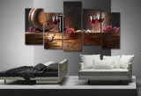 HD de afgedrukte Gewone Glazen die van de Rode Wijn op Canvas mc-005 schilderen van het Beeld van de Affiche van het Af:drukken van de Decoratie van de Zaal van het Canvas