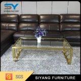 Tavolino da salotto moderno di lusso di vetro dell'oro della Rosa di stile europeo