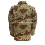 6 Militaire Eenvormig van Bdu van de Camouflage van de Woestijn van de kleur