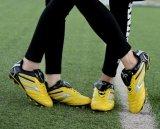 Non-Slip высокие ботинки футбола PU упругости/ботинки футбола