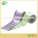 Etiqueta de etiqueta criativa com impressão a cores para rolo (CKT-LA-448)