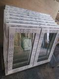 PVC二重ガラス窓の日除けのWindows