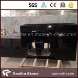 L bancada preta do granito da pérola das bordas redondas da forma para partes superiores da vaidade da cozinha e do banheiro