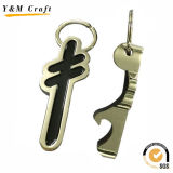 주문 금속 탄알 모양 열쇠 고리 병따개