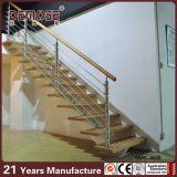 Escaleras de madera de interior del paso de progresión de las pisadas de escalera (DMS-4016)