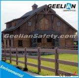 オーストラリアPVC 3柵の黒い白く/灰色/ブラウンカラーの外部の馬の塀