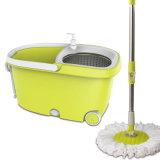 Fregona de la vuelta de la limpieza del suelo del compartimiento de dos pequeña ruedas