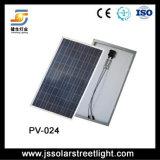5 anos lâmpada de rua solar híbrida de garantia e de vento 40W