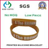 Wristbands di gomma promozionali/fascia personalizzata del silicone di marchio