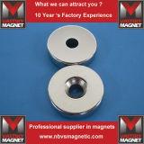 Сильный магнит кольца с зенкованным отверстием