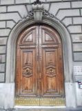 Puerta doble de madera sólida (DS-285)