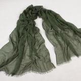 女性のための緑のビスコース長いスカーフ