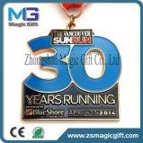 金張りの安くカスタマイズされた賞のShoolのスポーツの金属メダル