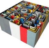 Tubo rectangular del moldeado FRP/GRP para la industria