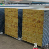 Telha de telhado ondulado de aço Painel sanduíche de parede de rocha para parede / telhado