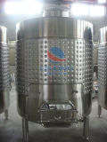 Tanque de armazenamento do vinho do aço inoxidável com revestimento refrigerando