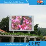 Parede video ao ar livre do diodo emissor de luz da economia de custo P10 para anunciar