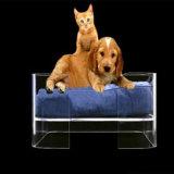 Luxuxacrylhundebett mit Kissen