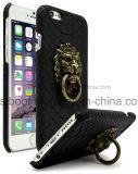 Цена черного случая мобильного телефона PU дешевое для iPhone