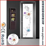 Film amovible de guichet en verre Chine de modèle imperméable à l'eau de fleur de 2017 pour des portes