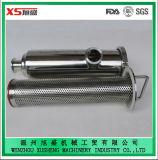 """4 """" tamis hygiénique de filtre de cornière de l'acier inoxydable 316L avec l'écran perforé de plaque"""
