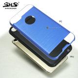 Shs 2016のiPhone 5のためのブラシをかけられた縞TPUのパソコンの携帯電話の箱