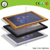 Personalizado de aluminio con pilas marco delgado de imagen LED Caja de luz