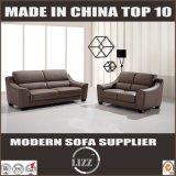 Верхние кожаный комплект софы мебели 123 софы самомоднейшие секционный