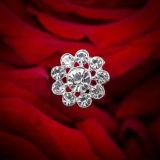 Sparkly 수정같은 진주 결혼식 꽃다발 보석 모조 다이아몬드 브로치 꽃다발