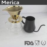 Dispositivo di gocciolamento dorato pallido del caffè dell'acciaio inossidabile 304