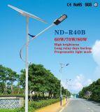 Long Rainy Days Backup Solar Street Light avec ce certifié