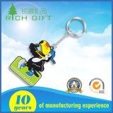 Шаржа способа 3D изготовления держатель Keyholder Keychain крышки бирки PVC оптового изготовленный на заказ мягкого резиновый для рекламировать подарки промотирования